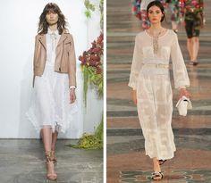 Tendencias de la moda primavera-verano 2017: Vestidos blancos
