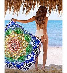 Indian Handmade Hippie Wall Hanging Mandala Round Roundie Tapestry, Furniture Cloth, Beach Towel, Yoga Mat, Beach Throw