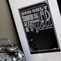 God Only Knows - A3 print on 300gsm white, matt board.