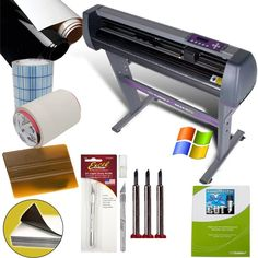 Vinyl Cutter Value Sign Making Bundle with Design and Cut Software - Cutting Signs, Stickers *** Find out more at the image link. Vinyl Cutter Machine, Buy Vinyl, Cool Desktop, Vinyl Cutting, Arts And Crafts Supplies, Sewing Stores, Things To Buy, Crafts To Make, Diy Crafts