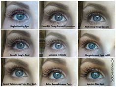 The Ultimate Comparison of Top MascarasYou can find Mascaras and more on our website.The Ultimate Comparison of Top Mascaras All Things Beauty, Beauty Make Up, Hair Beauty, Too Faced, Covergirl, Beauty Secrets, Beauty Hacks, Beauty Tips, Pure Beauty