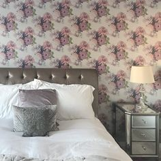 Luxury Wallcoverings and Print Design Metallic Paper, Bed Pillows, Print Design, Pillow Cases, Studio, Luxury, Wallpaper, Silver, Pink