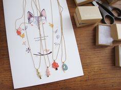Sweet Enamel Necklaces | Lucille {m}
