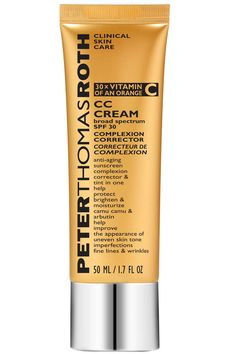 The skincare guru has concocted his own color-correcting multitasker, which contains camu camu and arbutin to remove discolorations.  Peter Thomas Roth CC Cream Broad Spectrum SPF 30, $48; peterthomasroth.com Courtesy of Peter Thomas Roth  - ELLE.com