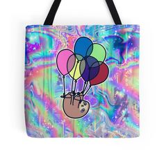 Upside Down Balloon Sloth Rainbow Holographic