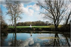 Suffolk Wedding Photography-Mark and Becky #granarybarn #granaryestates #pond #suffolkvenue #bluesky #brideandgroom #weddingphotos