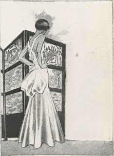 A Jean Cocteau drawing of Chanel.  1932