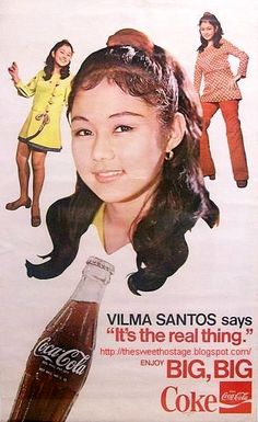 Vilma for Coke (ctto) Filipina Actress, Filipina Beauty, Philippines Culture, Manila Philippines, Vintage Comics, Vintage Ads, Model Minority, 90s Pop Culture, Jose Rizal
