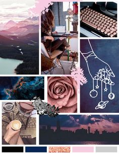 Moodboard design inspiration Expensive and classy brand purple, rose gold marine blue elegant calm Website Design Inspiration, Logo Inspiration, Inspiration Fitness, Sketchbook Inspiration, Journal Inspiration, Garden Inspiration, Mood And Tone, Branding Design, Branding Ideas