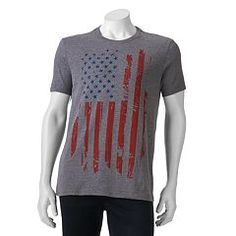 Let freedom ring. Put a cool twist on patriotic pride with this men's Apt. 9 graphic t-shirt. Let Freedom Ring, American Flag, Graphic Tees, Pullover, Abstract, Box Store, Sweaters, T Shirt, Clothes