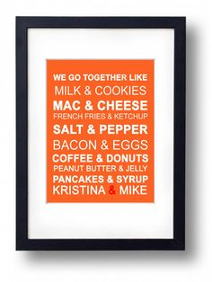 Kitchen wall Art- Art for kitchen -Print sign Decor ( We Go Together) Kitchen poster, retro wall decor, mid century modern,coffee print @Emily Green