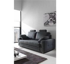 Sofá cama tres plazas. Sofá tapizado en tela, disponible en seis colores. Descubrelos!