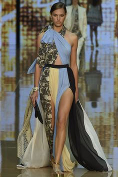 Just Cavalli RTW Spring 2015 I love the style of the dress but obviously the fabric is too much