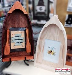DIY Boat Frame using the BoBunny Take a Hike Paper. Available at our Ben Franklin Crafts and Frame Shop store in Monroe, WA