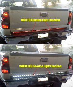 15 mini tailgate light bar w red led running lights brake lights 15 mini tailgate light bar w red led running lights brake lights turn signals with smoked lens only fits ford chevygmc turbo diesel hea mozeypictures Image collections