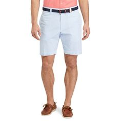Men's Chaps Straight-Fit Seersucker Shorts, Size: 33, Blue
