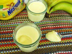 A falta de Lexatín...buenas son tortas: Yogur de plátano sin yogurtera Fondue, Glass Of Milk, Cooking Recipes, Pudding, Cheese, Vegan, Ethnic Recipes, Desserts, Drinks