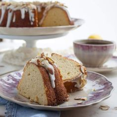 Almond flour, coconut flour and cream cheese combine to produce moist, low carb bundt cake. | low carb, keto, thm