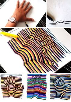 hand 3D drawing | How to Draw a 3D Hand | Crafts