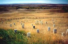 Little Bighorn Battlefield National Monument preserves the site of the June 25 and 26, 1876, Battle of the Little Bighorn, near Crow Agency, Montana. (V)