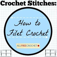 When you're looking to work up a different kind of crochet project, filet crochet is a unique option that only requires the knowledge of chain stitches and double crochet. I'm here to help you out with Crochet Stitches: How to Filet Crochet. Crochet Patterns Filet, Tunisian Crochet, Thread Crochet, Crochet Designs, Crochet Stitches, Doilies Crochet, Crochet Borders, Crochet Squares, Cross Stitches