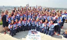 Great Britain's gold medalists stand on the roof of Team GB House to celebrate on the last day of the Olympics. #London2012