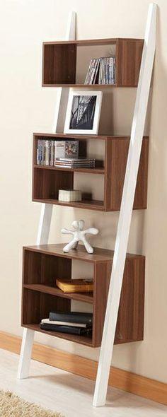 Modern ladder bookcase shelf #furniture_design