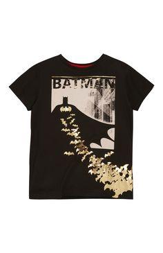 Primark - Black Batman Foil Print T-Shirt