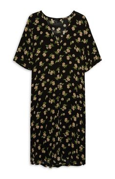 Primark - Floral Button Down Midi Dress
