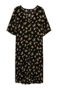 Floral Button Down Midi Dress