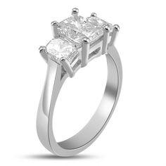 2.36 ct Shenoa's 3-Stone Diamond Engagement Ring 14k