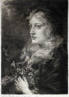 OPHELIA, 1880. by Anna Lea Merritt