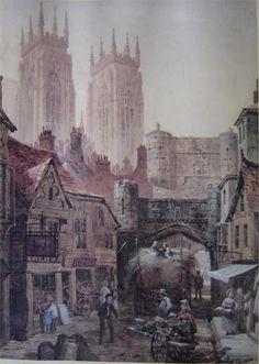 Painting of Bootham Bar, York, England