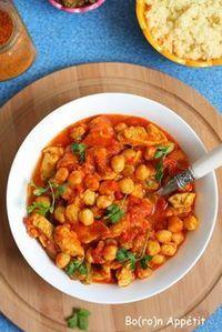 Marokański kurczak z ciecierzycą Polish Recipes, Arabic Food, Chana Masala, Tofu, Food To Make, Good Food, Food Porn, Food And Drink, Healthy Eating