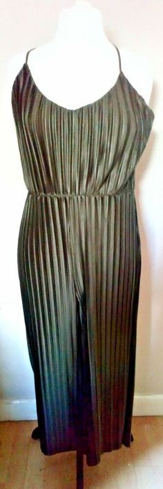 c17df0726674 ... ladies olive khaki box pleated play suit jump suit 16 uk trending   fashion  clothing  shoes  accessories  womensclothing  jumpsuitsrompers ( ebay link)