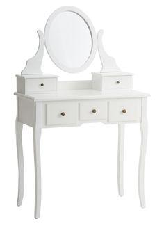 Sminkebord MALLING m/spejl hvid   JYSK Dressing Table Mirror, Girl House, Work Surface, Modern Kitchen Design, Console Table, Vanity, Room, Furniture, Home Decor