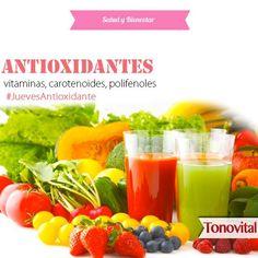 ¿Sabes cuáles son los principales antioxidantes que encuentras en los alimentos? Vitamina C, Vitamina E, los compuestos precursores de la Vitamina A (betacaroteno, alfacaroteno, beta-criptoxantina), carotenoides (luteína, licopeno, zeaxantina y astaxantina), aunque también se incluyen los compuestos que son pro-vitamina A, los polifenoles(flavonoides y no-flavonoides). Algunos de ellos los fuimos mencionando en otras publicaciones, otros los describiremos más adelante. #Tonovital