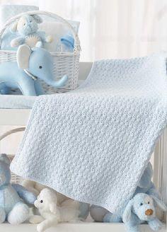 Patons® Bundle in Blue Blanket #crochet #pattern