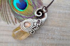 Manifestation Necklace. Rutile Rutilated by EnchantedEvolution11