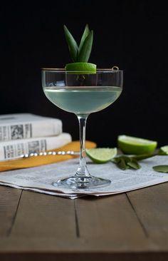 Nobel Prizefighter Cocktail: bay leaf infused rhum agricole, green Chartreuse, lime juice & celery bitters . Rhums de la Réunion disponible maintenant sur www.yumhbox.com