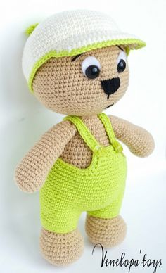 bear with cap amigurumi by VenelopaTOYS