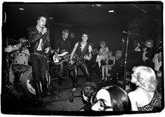 Sid Vicious, Jerry Nolan, Arthur Kane, Steve Dior. The Idols at Max's Kansas City