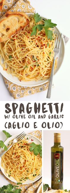 A classic pasta dish that highlights the simple yet complex flavors of olive oil and garlic.