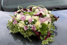 Autostuk paars, roze en wit
