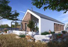 Modern Barn House, Modern House Design, Bungalow House Plans, Dream House Plans, Beautiful Architecture, Architecture Design, Future House, My House, Interesting Buildings