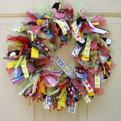 Back to School Wreath, Teacher Classroom Wreath, School Teacher Gift, Teacher Appreciation, Fall Wreath. $55.00, via Etsy.