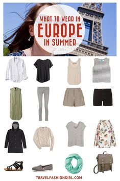 Are you planning a trip to Europe in the summer? Whether you are planning to head to Rome, Paris, Berlin, Madrid or London, this packing list is a great start! Click here to find the secrets to packing for Europe in summer. | TravelFashionGirl.com