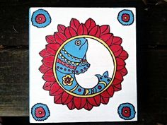 Handpainted Madhubani Multipurpose  Box Jewelry Box by Muktangan, $40.00