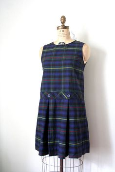 vintage SCHOOL GIRL uniform / catholic PLAID via Etsy. I wore these UGLY uniforms! I want to a private girls school from Kinder to 12th grade!