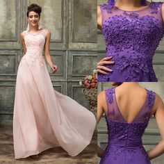 LACE BEADED Long Prom Quinceanera Evening Party Bridesmaid Formal Gown Dresses #GraceKarin #BallGown #Cocktail